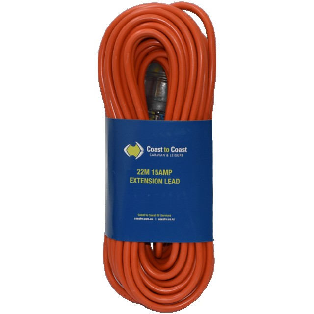 22 metre 15AMP HEAVY DUTY EXTENSION LEAD with  LED Coast to Coast