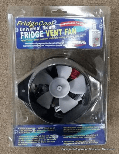 3 Way Fridge Fan 12 volt Caravan Fridge Vent Fan Valterra Auto on off with temp Valterra