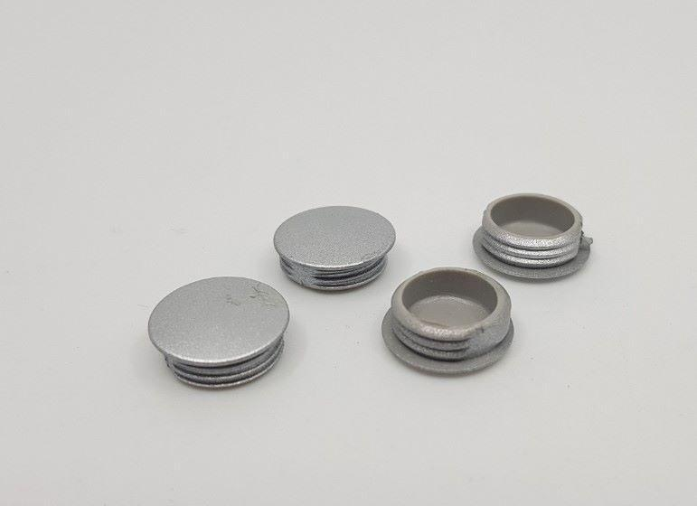 4 x Aircommand Heron Fascia screw cap in Silver Aircommand