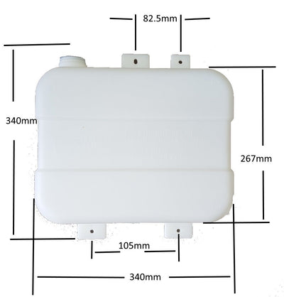 Autoterm Fuel tank 7l - with mounting brackets - White Autoterm