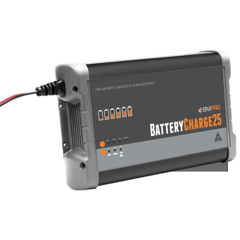 BATTERYCHARGE25 25 Amp 204volt  12V Battery Charger suitable for lithium and lead batteries BMPro