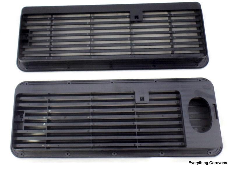 Black Complete Vent Set for 3 Way Fridge Dometic Caravan Fridge under 90 litres Dometic