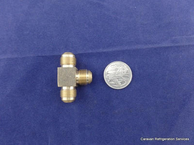 Brass Gas Fitting 3-8 Flare Three Way Tee for 3-8 Copper Pipe Brass