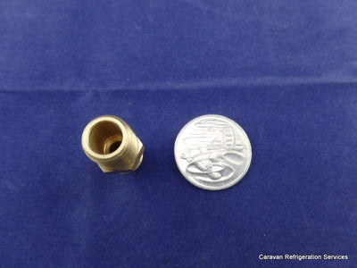 Brass Gas Fitting 3-8 Flare Union for 1-4 Taper Thread Brass
