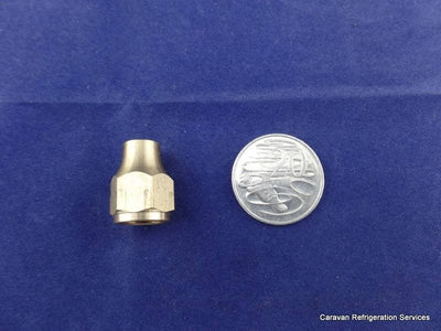Brass Gas Fitting 3-8 Reducing Flare Nut for 5-16 Copper Pipe Brass