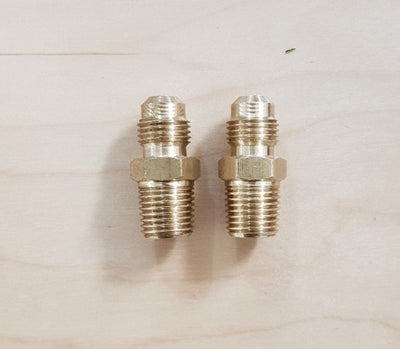 Brass Gas Fitting 5-16 Flare Union for 1-4 Taper Thread x 2 Brass