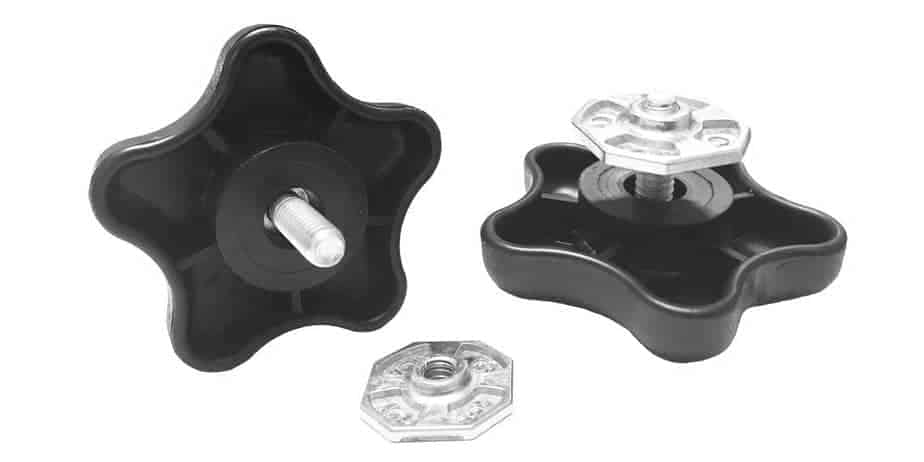 CAREFREE Awning PAIR OF BLACK LOCKING KNOB With NUT. 901022 Carefree