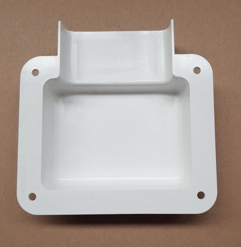 CMS MOUNTING SHROUD FOR OUTLETS+SWITCH PLATES WHITE for Caravan 240 electrics CMS
