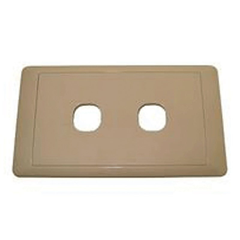 CMS SWITCH PLATE DOUBLE BEIGE for Caravan 240 electrics CMS