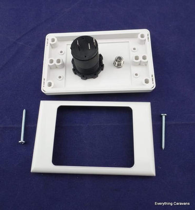 Caravan Antenna with 12V Cigarette Socket Wall Plate Winegard