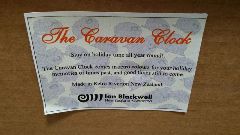 Classic Caravan Clock - Handmade in NZ Everything Caravans
