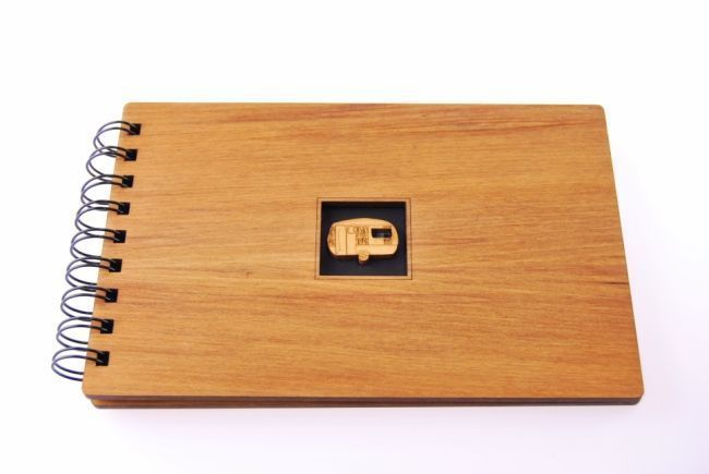 Classic Caravan Guest Book - Wooden Native NZ Timber Everything Caravans