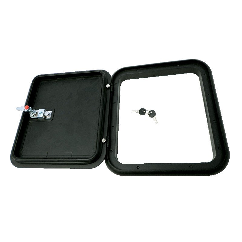 Coast Access Door 1 399x349mm Black RV Hatch Coast to Coast
