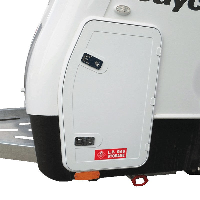 Coast Access Door 7 - White 370 x 595 entry side RV Hatch Coast to Coast