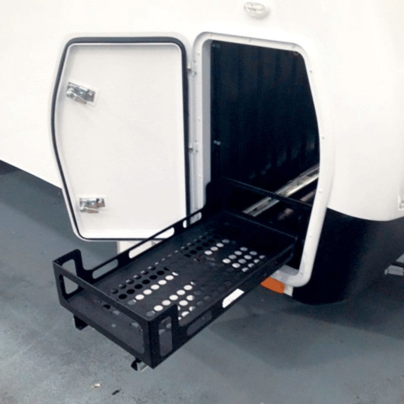 Coast Access Door 8 - White 370 x 595 closed side RV Hatch Coast to Coast