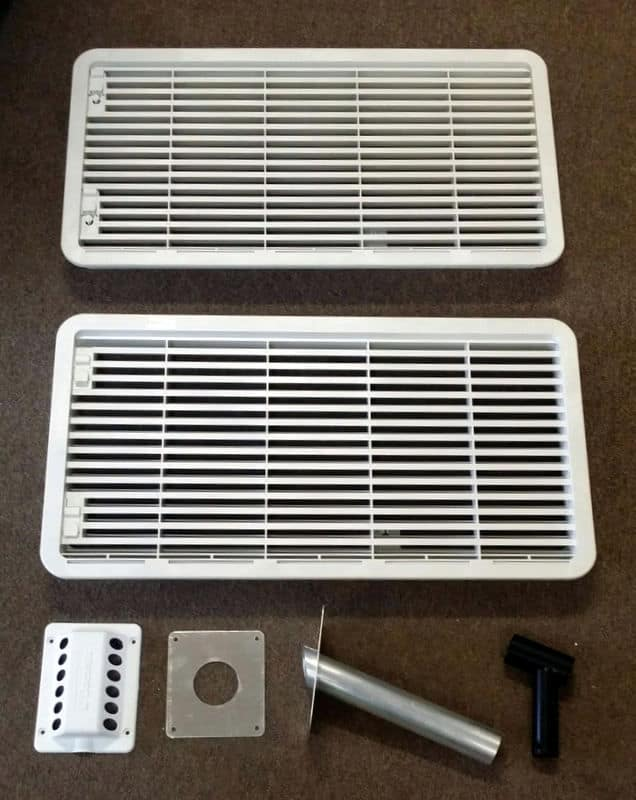 Complete Vent Set for 3 Way Fridge Dometic Caravan Fridge above 90 litres Dometic