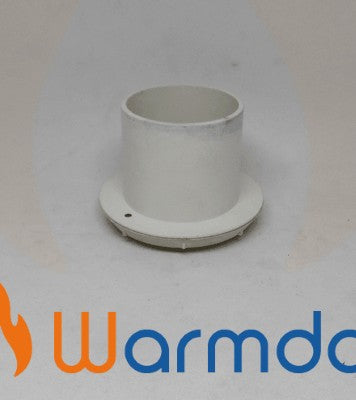Directional Air Outlet - aircon and diesel heaters 60-65mm White Warmda