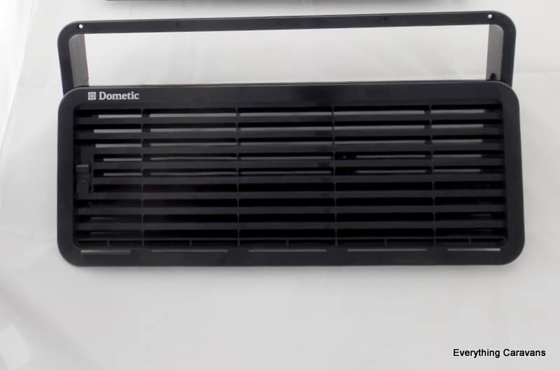 Dometic Lower Black Fridge Vent and Frame for Electrolux Dometic 3 way Caravan Fridge Dometic