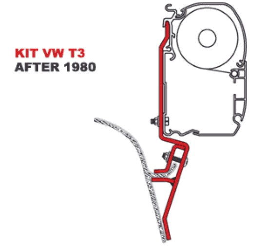 FIAMMA AWN VWT2-T3 FITTING BRACKETS FOR F45. Fiamma