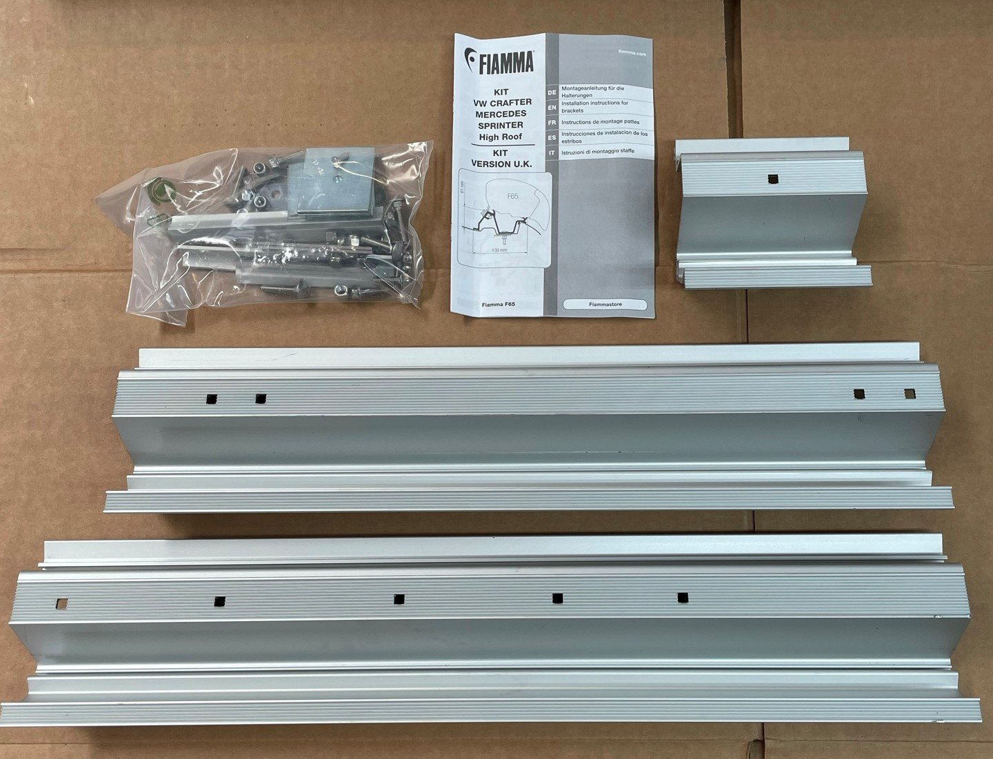 FIAMMA F65 AWN FIXING KIT FOR MERCEDES SPRINTER. 98655-889-98655-746 Fiamma