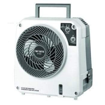 Fan-Tastic IceO Cube AC-DC Rechargeable 1200ml Evaporative Cooler Fan-Tastic