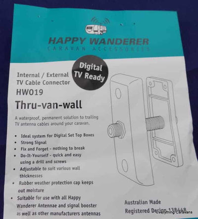 Happy Wanderer Thru-Van-Wall Internal-External TV Cable Connection Happy Wanderer