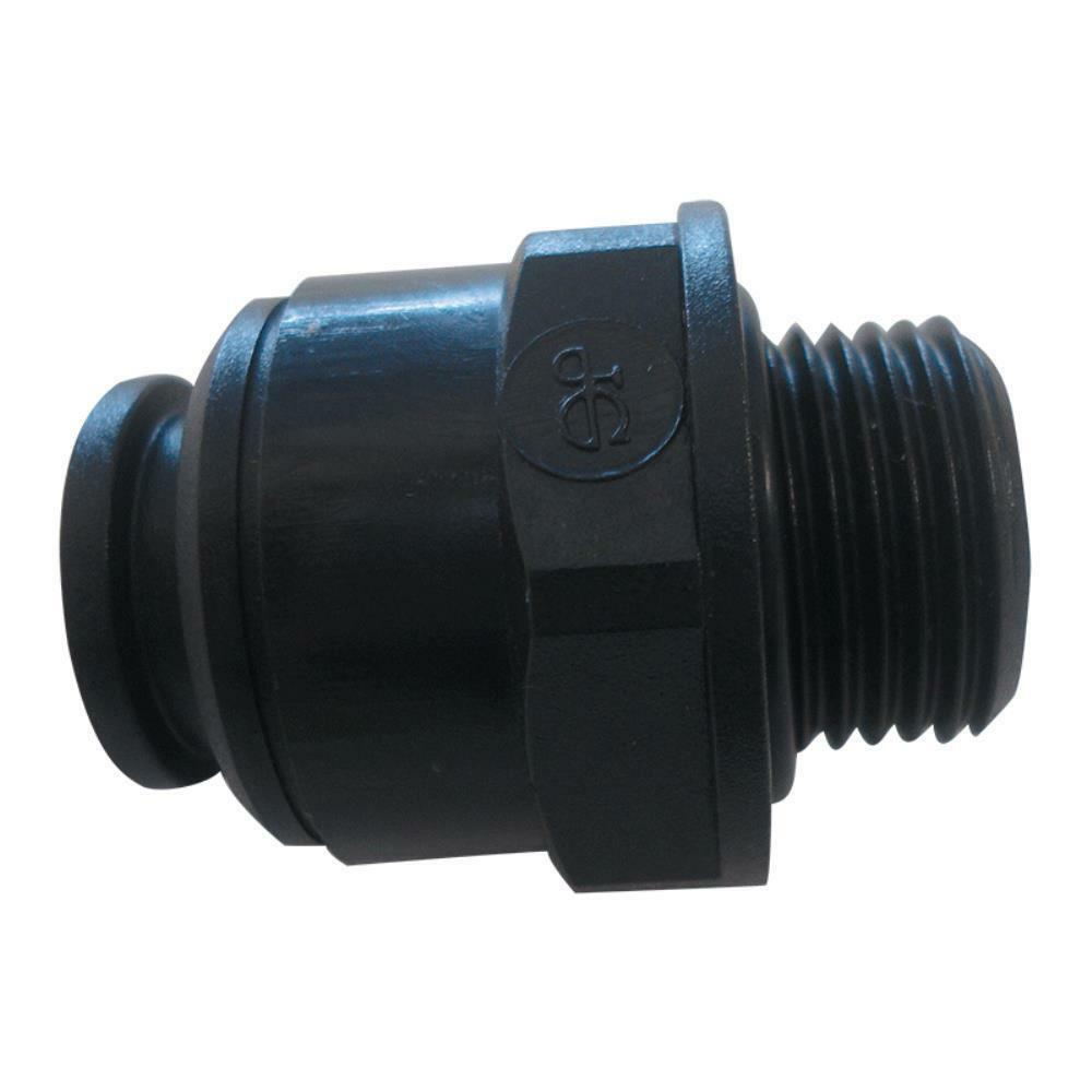 "JG 12MM 3/8"" STRAIGHT ADAPTER MALE PLASTIC. PM011213E John Guest"