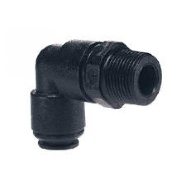 "JG 12MM PLASTIC SWIVEL ELBOW MALE 1/2"" BSPT. PM091204E John Guest"