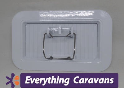Large Scupper Vent White - Alloy Everything Caravans