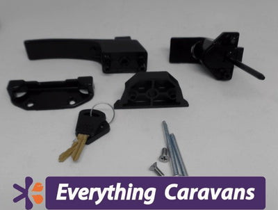 Panorama door lock complete vintage caravan door lock Camec