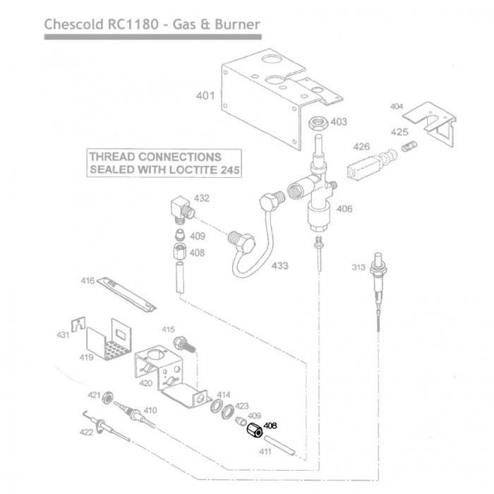 RC1180 Nut Gas Pipe Dometic