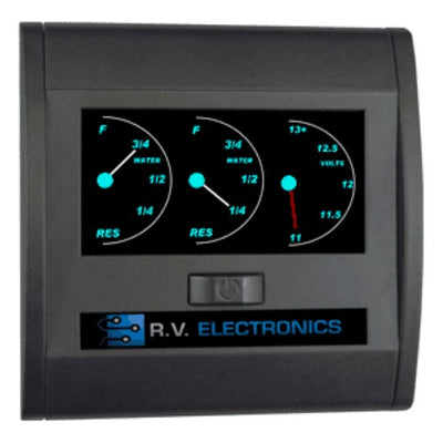 RV Electronics LCD Double Tank Water Level Indicator and Voltmeter Combination Guage RV Electronics
