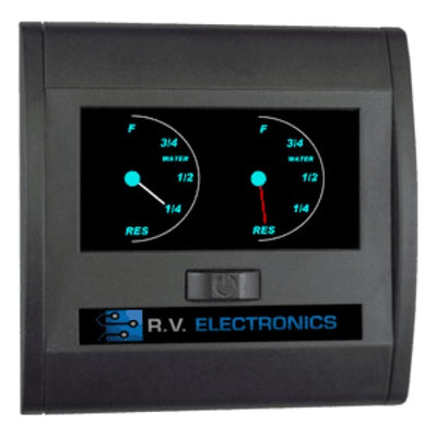 RV Electronics LCD Double Tank Water level Indicator Gauge RV Electronics