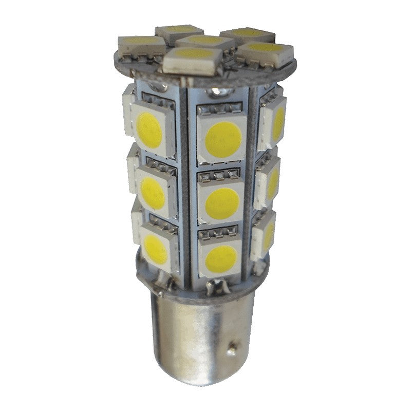 Replacement LED Bulb 18 LED Double Connector Offset BA15D LED