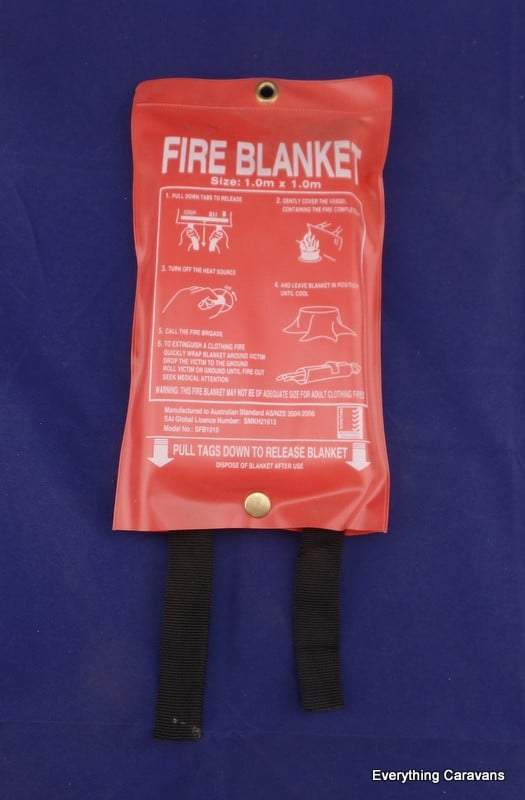 Safety Fire Blanket 1m x 1m Everything Caravans