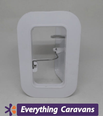 Small Scupper Vent White - Alloy Everything Caravans