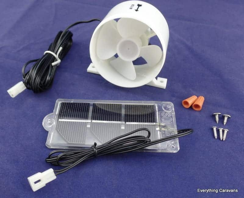 Solar Fridge Fan for 3 Way Fridges Caravan and RV Everything Caravans