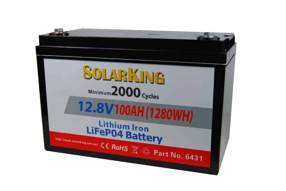 SolarKing lithium battery 12.8 volt 100amp with BMS, direct replacement for AGM SatKing