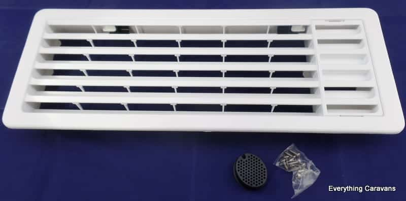 Thetford Upper Fridge Vent for Electrolux Dometic Thetford 3 way Caravan Fridge - White Thetford