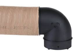 Truma 90 Degree Elbow for Ducting Gas and Diesel Heaters 80mm - discontinued Truma