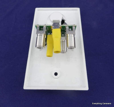 Winegard White 12V Socket Wall Plate and Amplifier Winegard