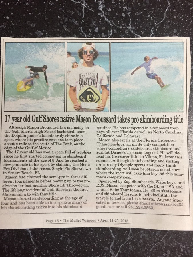 Mason Broussard In Local Paper