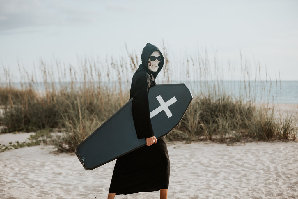 Grim Reaper Takes Up Skimboarding!