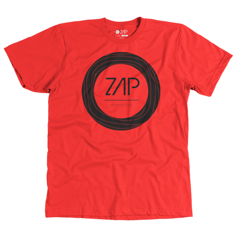 Mens Circled Tee Red