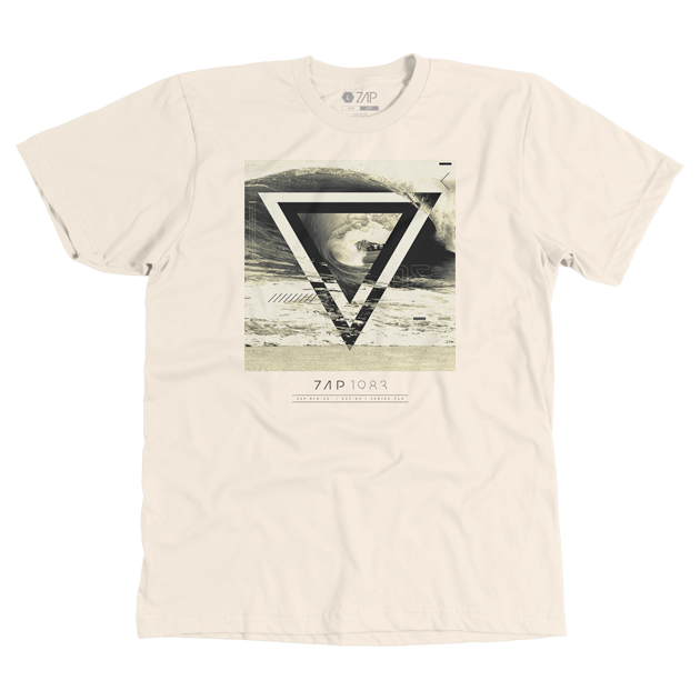 Mens Triwave Tee Cream