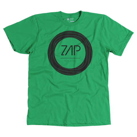 Mens Circled Tee Green