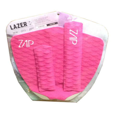 Zap Lazer Arch+Tail Pad Set Pink Skimboard Traction
