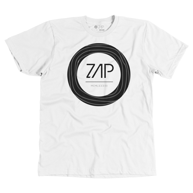 Mens Circled Tee White