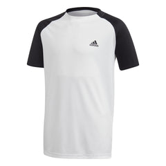 Adidas Club White Boys SS Crew Tennis Shirt