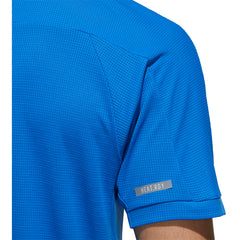 Adidas HEAT.RDY CB Blue Mens SS Crew Tennis Shirt